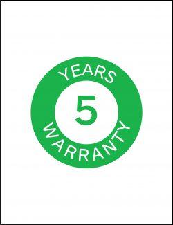 5 Years Warranty form