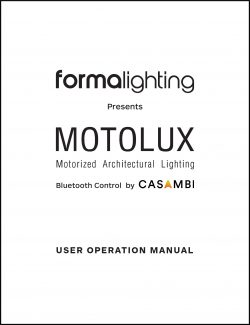 Bluetooth control by CASAMBI - User Operation manual