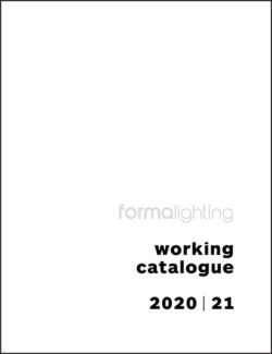 Working Catalogue 2020/21